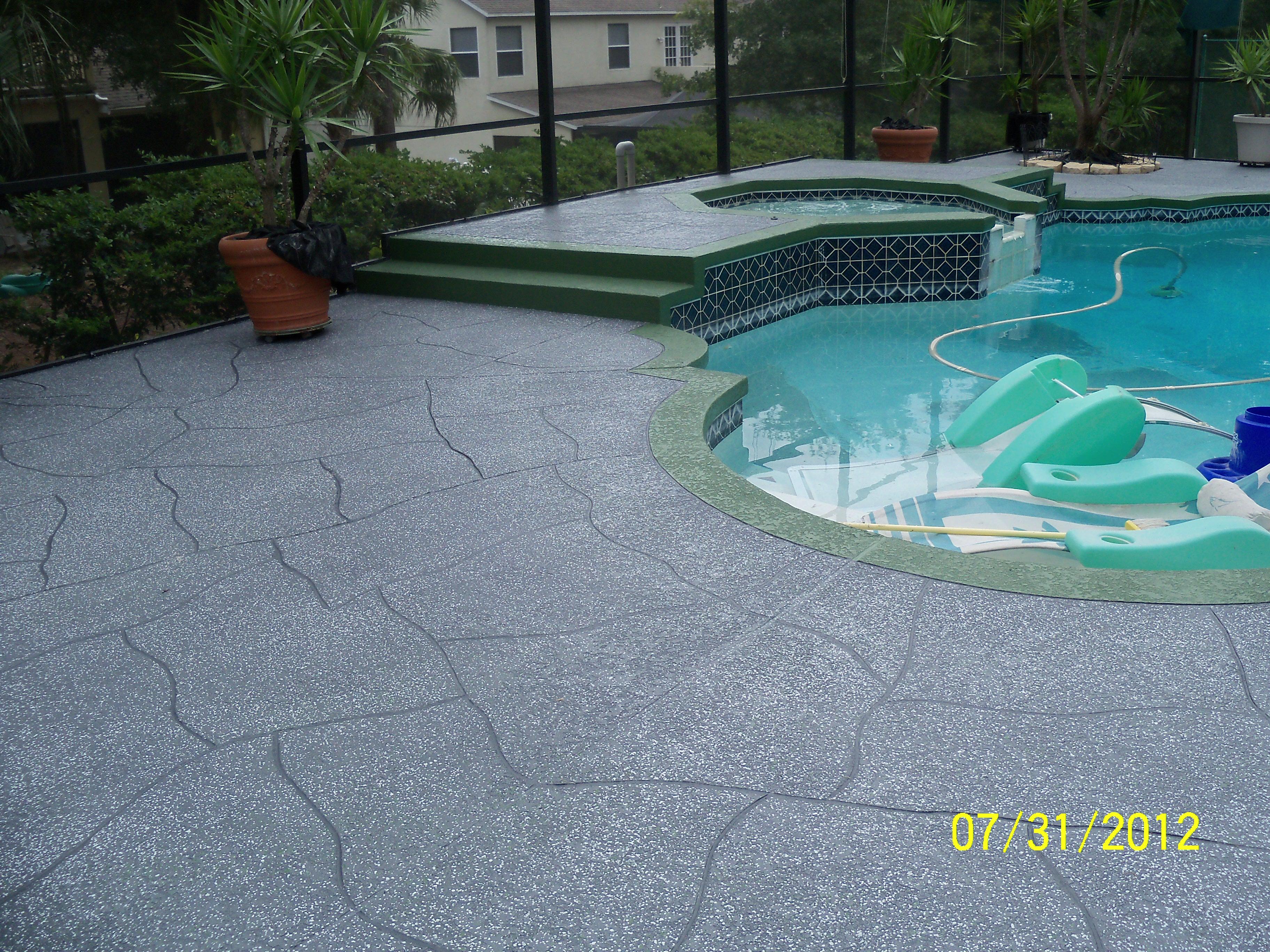 Pool Deck resurfacing remodeling pavers repair tampa pinealls pasco